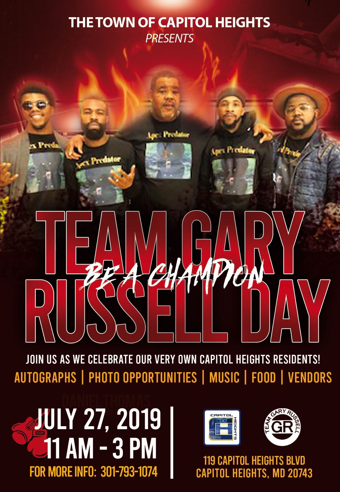 Team Gary Russell Day Flyer